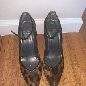 Stuart Weitzman Shoes - Fur Stuart Weitzman Leopard Print with Ankle Pump